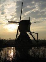 ¿Cómo funcionan los molinos de viento de grano?