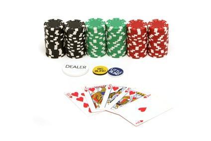 Las cosas en la mesa de póquer