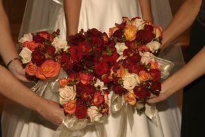 Flores nupciales de bricolaje