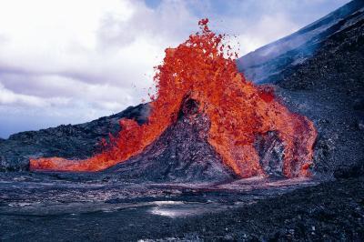 Lo que evalúa las oscilaciones de un volcán?