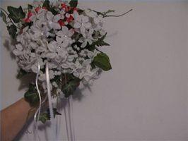 Cómo hacer cascada Ramos Fuera de flores de seda