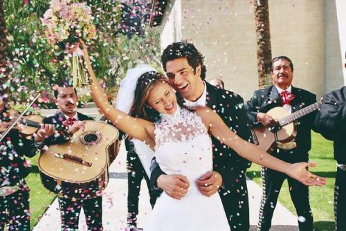 DIY pista de baile para una boda al aire libre