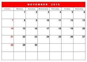 Actividades familiares para Noviembre