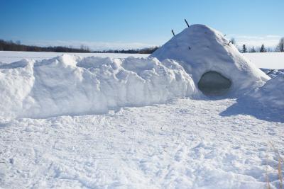 Cómo hacer un establo de nieve Hut