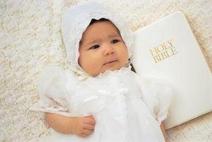 Cómo planificar una dedicación de bebés