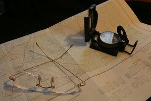Cómo identificar las cumbres en un mapa topográfico