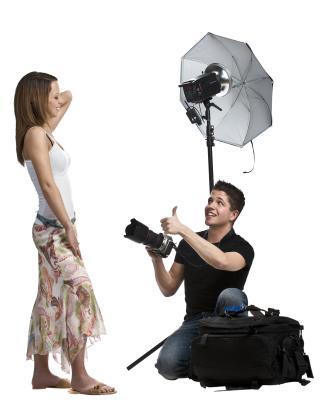 Paraguas de bricolaje e iluminación para la fotografía