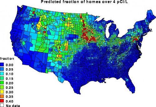 La vida de gas radón