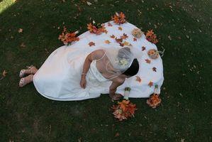 Cómo utilizar arándano y Brown como los colores de la boda