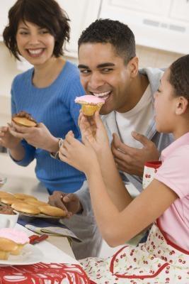 Ideas Día de la pasta de azúcar-adornó la magdalena del padre