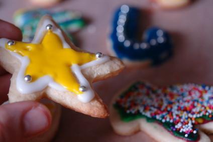 Cómo hacer bolsas para regalos hechos en casa de la galleta de Navidad