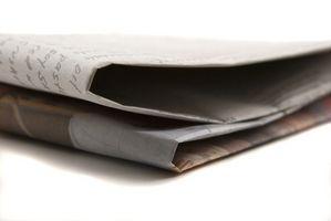 Formas de reutilizar un periódico