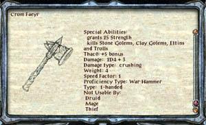 """Cómo forjar la Crom Faeyr Warhammer en """"Puerta de Baldur 2"""""""