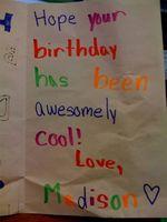 Las cosas dulces a escribir en una tarjeta de cumpleaños