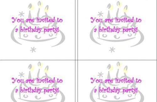 Cómo hacer tarjetas de invitación de cumpleaños en Microsoft Word
