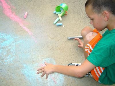 Juegos para niños que usan la tiza