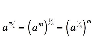 Propiedades de los exponentes racionales