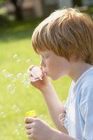 Cómo hacer una cadena de burbujas de tamaño súper
