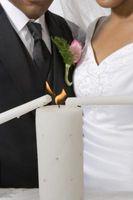 En lugar de las ideas iluminación de la vela de la boda