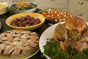 Alimentos para un jardín de infancia de Acción de Gracias Fiesta