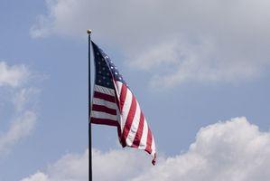 Las especificaciones para un asta de bandera