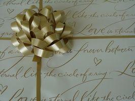 Etiqueta para los regalos de boda tardías