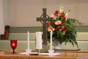 La vela de la unidad en una ceremonia católica