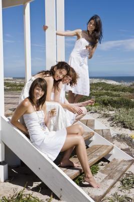 Regalos de la dama de honor de la playa