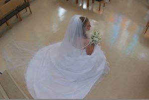 Las instrucciones sobre Bustling un vestido de novia