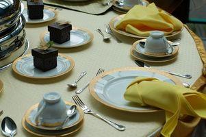 Etiqueta de la cena de boda
