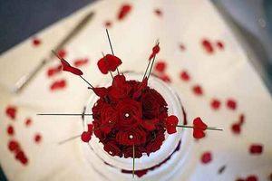 Ideas de decoración de la boda roja