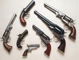 Partes de un revólver del casquillo y bola