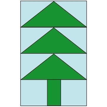 Cómo coser un remiendo del árbol de navidad del bloque del edredón