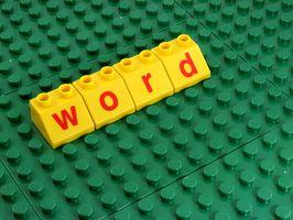 Diversión Rompecabezas Palabra para Niños