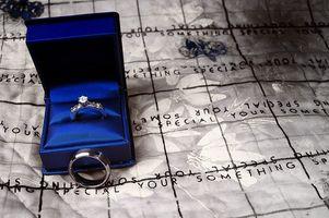 Compromiso de la boda Etiqueta Anillo