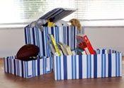 Cómo hacer una caja de juguetes a partir de cartón