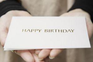 Tarjeta que hace las ideas para los cumpleaños