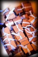 Cajas del favor de la boda de bricolaje