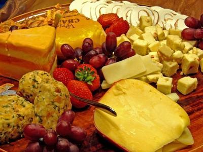 Regalos queso Cesto