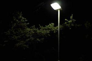 Especificaciones de luz solar de la calle