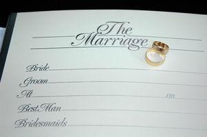 Requisitos para un certificado de matrimonio en la Florida