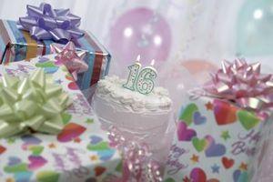 Las ideas de la celebridad del partido del dulce 16