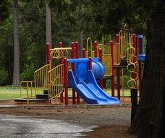 Zona de juegos para niños en edad preescolar Equipo de Escalada