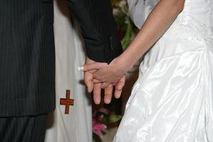 Lista de invitados Etiqueta para una boda de la iglesia