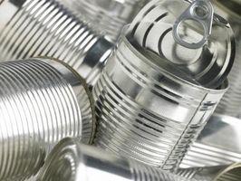 Los materiales que se usan para fabricar latas y otros contenedores de almacenamiento