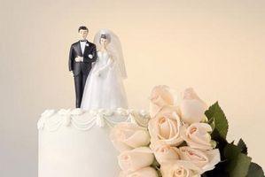 Cómo hacer papel novia y del novio Cake Toppers