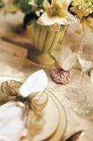 Usos de la servilleta de la boda