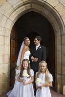 Las oraciones de los fieles de la boda