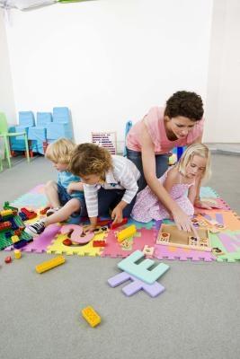 Esteras de actividades para los niños
