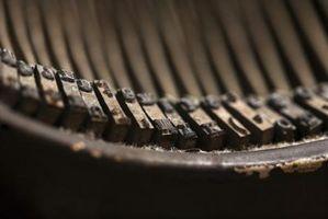 Cómo quitar el óxido en una máquina de escribir Underwood